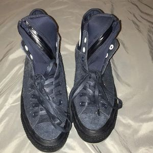 Men's navy blue converse all star